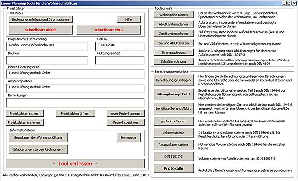 LUNOS programvara för decentraliserad ventilation