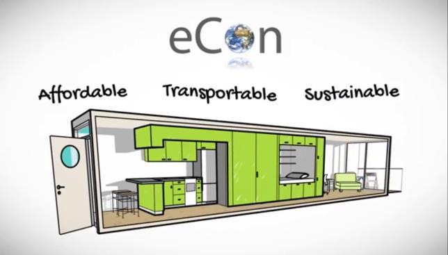 eCon Bostadsmodul och Energy Building decentraliserad ventilation