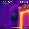 LUNOS ventilation under värmekamera