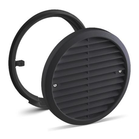 Produkt svart yttergaller LUNOS decentraliserad ventilation